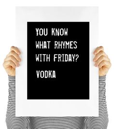 Friday quote vodka humor digital download by MyDaisyDownloads