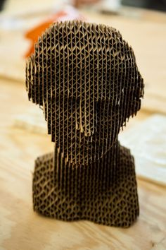 Corrugated cardboard sculpture.(unknown author)