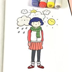 "1,362 Likes, 18 Comments - ⭐️KiraKiraDoodles (@kirakiradoodles) on Instagram: ""Rainy days, cloudy days, sunny days... which do you like? ☀️☺️ • • #onlyyesterday #studioghibli…"""