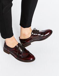 Image 1 ofASOS MEMOIR Leather Flat Shoes