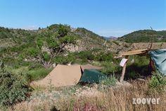 Camping La Boucoule Montbrun-les-Bains. Kleine camping, eco, ezels en zwembad. Ook huisjes te huur.