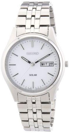 Seiko herren armbanduhr xl solar analog edelstahl sne039p1