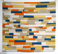 Beautiful modern quilt by Jillian Tamaki