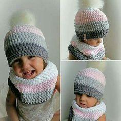 Crochet Kids Hats, Knitting For Kids, Loom Knitting, Baby Knitting, Knitted Hats, Knitting Patterns, Knit Crochet, Crochet Patterns, Finger Knitting Projects