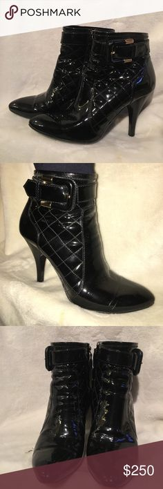 Burberry Ankle Booties Burberry patent leather croc embossed booties. Size 8.5 Burberry Shoes Heeled Boots