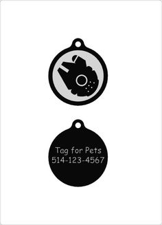 Star Wars/Quiet dog tag Plastic pet tags Custom pet ID tag Noiseless dog tag Silent dog tag personalized dog ID tags