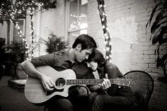 So this isn't a car engagement photo but playing guitar is how kyle ringed me in so we should do one like this too lol