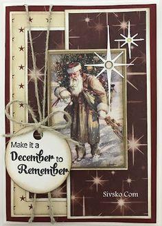 Oktober måneds julekort og nu begynder den store dag at nærme sig