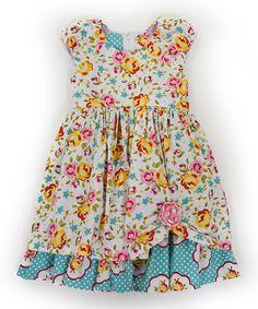 Look at this #zulilyfind! Pink & Yellow Maiden Collection Katlin Dress - Toddler & Girls #zulilyfinds