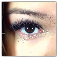 Dramatic Russian volume eyelash extensions