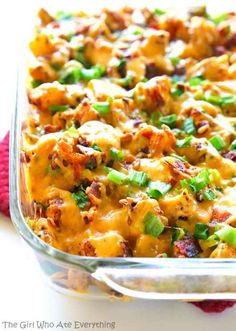 Buffalo Chicken, Bacon & Potato Casserole