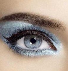 pretty blue eye shadow..