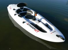 Jetbuster's new Jetrider XL, cause what trouble could you get into with a 9.5hp kayak