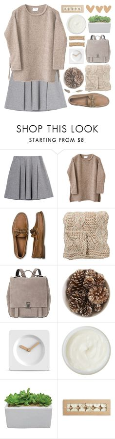 """""""Untitled #422"""" by chantellehofland ❤ liked on Polyvore featuring Fall Winter Spring Summer, Sperry, Bloomingville, Proenza Schouler, Pier 1 Imports, LEFF Amsterdam and REN"""