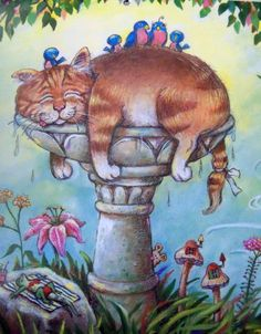 by Gary Patterson I Love Cats, Crazy Cats, Cool Cats, Art And Illustration, Art Illustrations, Gary Patterson, Gatos Cats, Cat Quilt, Cat Colors