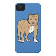 #Personalized American Pitbull Dog iPhone 4 Case-Mate Case - #pitbull #puppy #dog #dogs #pet #pets #cute #doggie