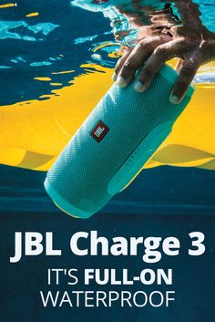 If outdoor adventure is a part of your life, you need a portable Bluetooth speaker that can keep up. The rugged JBL Charge 3 isn't just weather-resistant — it's full-on waterproof. So sand, surf, or snow won't affect it — or its ability to crank out your Cool Bluetooth Speakers, Waterproof Bluetooth Speaker, Portable Speakers, Bluetooth Headphones, Built In Speakers, Cool Gadgets, Surfing, Outdoor, Life