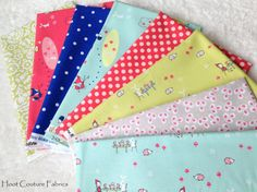Enchanted 1/4 yard fat quarter Bundle from Riley Blake and Michael Miller Fabrics.  *You will receive 1/4 yard of each of these prints:  ~Enchant