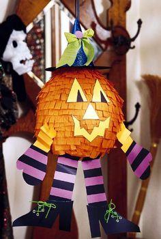 jack o lantern pinata for a kids halloween party