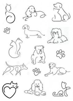 Tattoos small and delicate + from 120 designs - . - Tattoos small and delicate + from 120 designs – # Tattoos - Tatoo Dog, Cat And Dog Tattoo, Kritzelei Tattoo, Doodle Tattoo, Hamsa Tattoo, Dog Tattoos, Mini Tattoos, Piercing Tattoo, Body Art Tattoos