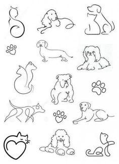 Tattoos small and delicate + from 120 designs - . - Tattoos small and delicate + from 120 designs – # Tattoos - Kritzelei Tattoo, Doodle Tattoo, Tattoo Drawings, Mini Tattoos, Body Art Tattoos, Small Tattoos, Tatoos, Cat And Dog Tattoo, Future Tattoos