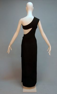 986: MADAME GRES ASYMMETRICAL ONE SHOULDER GOWN, c. 197 - 4
