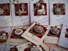 Vánoční perníková přáníčka Christmas Card with Gingerbread Easter Cookies, Sugar Art, Cookies Et Biscuits, Cookie Decorating, Gingerbread Cookies, Cake, Decoration, Christmas Cards, Gift Wrapping