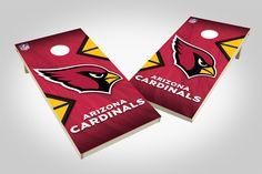 Arizona Cardinals Cornhole Board Set - Wild (w/Bluetooth Speakers)