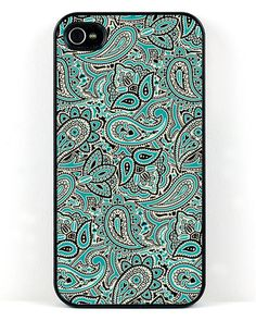 Teal Paisley iPhone Case - JewelMint