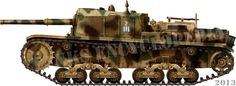 The Semovente da 75/34 WW2 Italian self-propelled gun was a tank hunter following the example of the German StuG IIIG, but only a few were built, pin by Paolo Marzioli