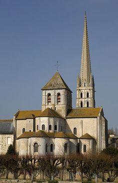 Abbatiale de Saint-Savin sur Gartempe. Vienne. Poitou-charentes.