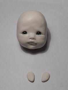Lepim baby with open eyes - Fair Masters - handmade, handmade Polymer Clay Figures, Polymer Clay Dolls, Polymer Clay Miniatures, Polymer Clay Crafts, Bb Reborn, Reborn Baby Dolls, Doll Making Tutorials, Clay Tutorials, Homemade Polymer Clay