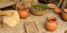 Pottery at Nazareth Village in Israel