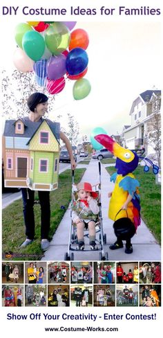 DIY Costumes for Families - tons of homemade costume ideas!