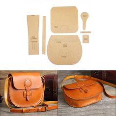 Leather Craft Clear Acrylic shoulder bag handbag Pattern Stencil Template DIY diy bag and purse Leather Diy Crafts, Leather Bags Handmade, Leather Projects, Leather Craft, Leather Gifts, Leather Purses, Leather Handbags, Leather Bag Pattern, Leather Bag Tutorial