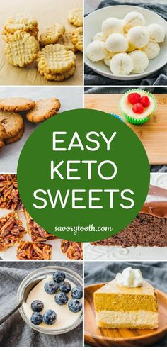 Easy and simple recipes for keto desserts, great for low carb and gluten free diets. #keto #lowcarb
