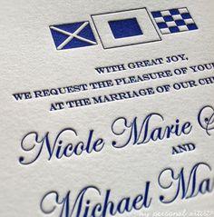 Letter Press wedding invitation