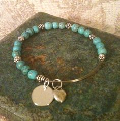 Alex and ani Copycat Turquoise Bangle with by GrecoGirlJewelry, $15.50