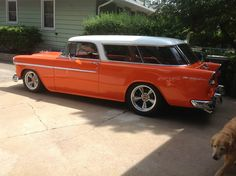 LAST WK HAD A DREAM I WAS DRIVING ONE OF THESE & IT WAS BAD ASS...   '55 Chevrolet Nomad / Bel Air