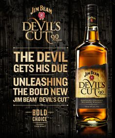 Jim Beam Devil's Cut is a bourbon that's big on oak – as you would expect knowing that much of it has been extracted from the barrel. Good Whiskey, Scotch Whiskey, Bourbon Whiskey, Whiskey Girl, Jim Beam, Alcohol Mixers, Whiskey Lullaby, Whisky Tasting, Spiritus