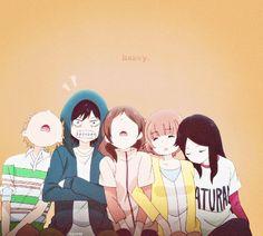Manga, Anime & otaku ≧﹏≦ y^o^y Futaba Yoshioka, Futaba Y Kou, Cute Anime Pics, Anime Love, Anime Films, Anime Characters, Ao Haru Ride Kou, Tanaka Kou, Best Romance Anime