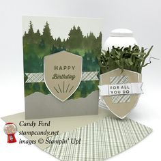 Manly Moments May 2018 Paper Pumpkin kit alternate projects for APPT Blog Hop #stampcandy Stampin Up Paper Pumpkin, Pumpkin Cards, Stampin Up Cards, Men's Cards, Masculine Cards, Card Kit, Happy Birthday Me, Paper Crafts, Place Card Holders