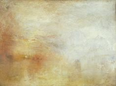 Joseph Mallord William Turner - Sun Setting over a Lake Oil paint on canvas,Tate). Watercolor Landscape Paintings, Seascape Paintings, Landscape Art, Joseph Mallord William Turner, Turner Painting, Painting & Drawing, Turner Watercolors, Inspiration Artistique, Francisco Goya