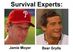 Survival Experts Separated at Birth: Jamie Moyer and Bear Grylls