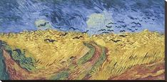 Famous Artists Van Gogh, Last Painting - Wheatfield with Crows, Poster Wall Art Fine Art Canvas Print For Living Room Bedroom Wall Decor Vincent Van Gogh, Van Gogh Museum, Crow Painting, Painting & Drawing, Paul Gauguin, Stretched Canvas Prints, Canvas Art Prints, Van Gogh Arte, Theo Van Gogh