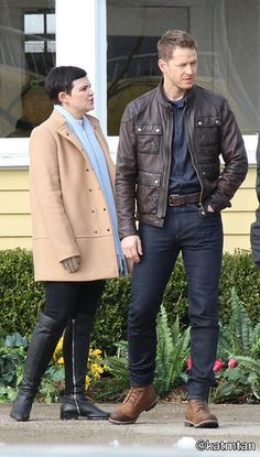 Josh Dallas and Ginnifer Goodwin BTS from February 14th 2017.