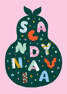#illustration #finnish #leenakisonen #sweet #candy #typography #candybag #flatcolor