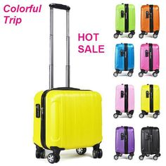 Small size luggage Carry Ons suitcase 17inch luggage trunk spinner trolley boarding bag notebook laptop case