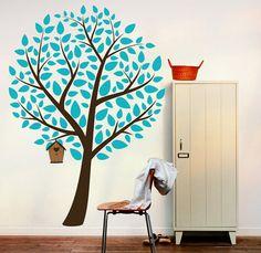 Wall Decal Home Decor Vinyl Sticker Art Mural  Blue Tree by Artoxo, $125.00