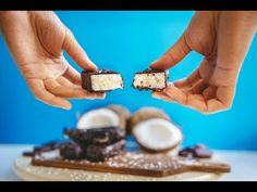Vegan Bounty, Snickers and Mars Bars Recipe - YouTube